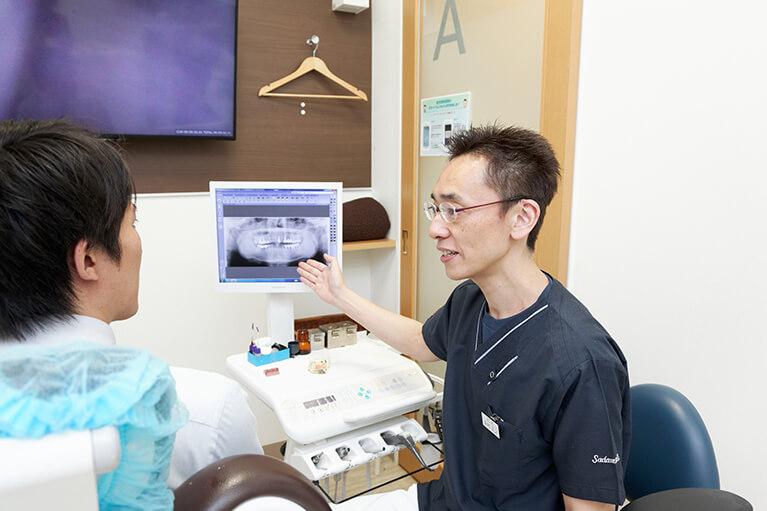 ご自身の歯を長く使ってもらうために歯は極力削りません