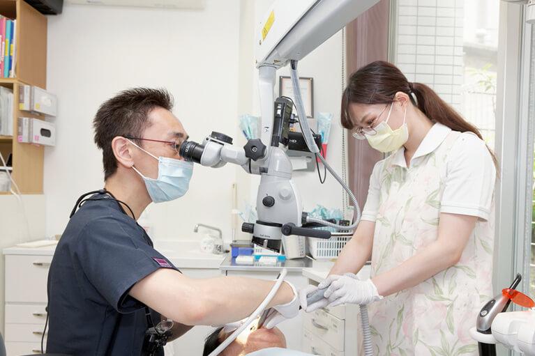 むし歯治療において痛みの少ない治療を行っています