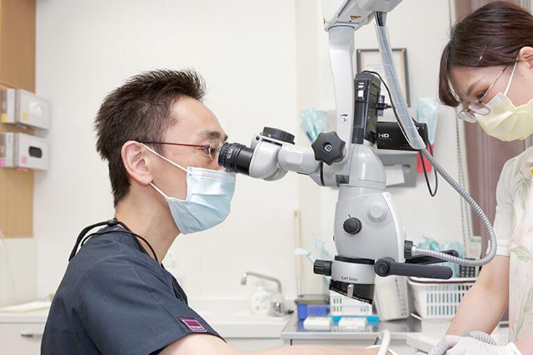 マイクロスコープ・拡大鏡を用いた精密根管治療