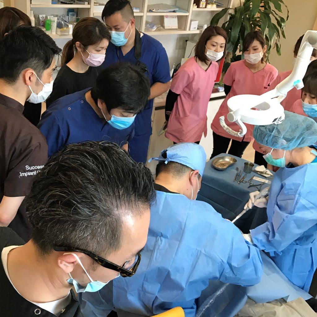 仲間が経営する熊本のクリニックでオペ見学